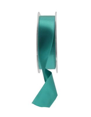 25mm Satin Ribbon Teal Green