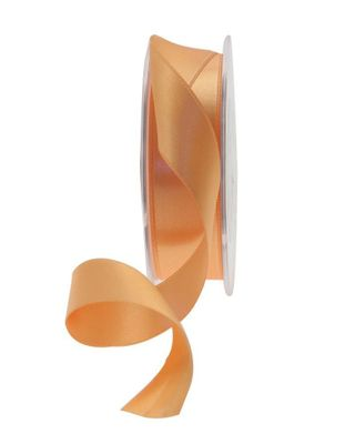 25mm Satin Ribbon Light Orange