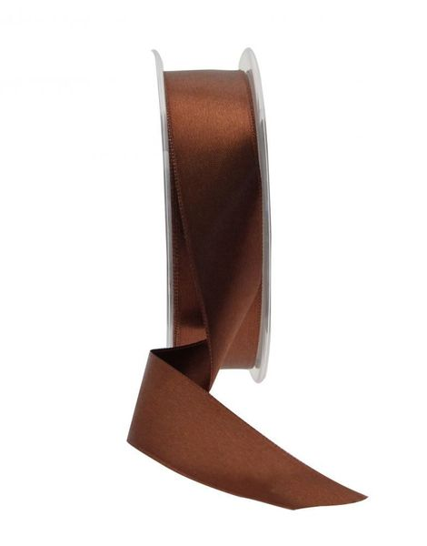 25mm Satin Ribbon Brown