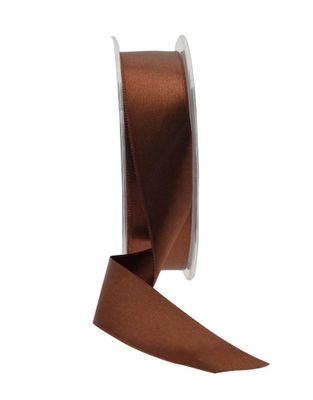 25mm Satin Ribbon Brown