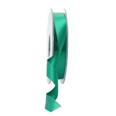 15mm Satin Ribbon Emerald
