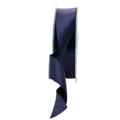 25mm Satin Ribbon Navy Blue