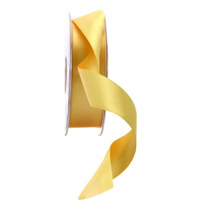 25mm Satin Ribbon Golden Yellow