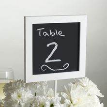 White Vintage Chalk Table Board Sign