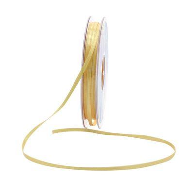 3mm Satin Ribbon Golden Yellow