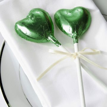 Green Chocolate Heart Lollipop