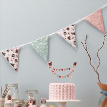 Patchwork Owl Fabric Bunting