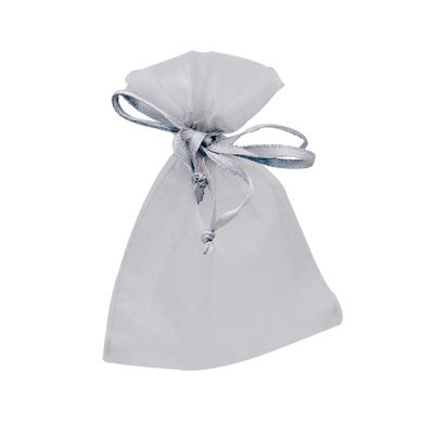 Silver Organza Favour Bags 7 x 10cm