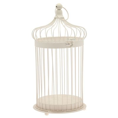 44cm Cream Bird Cage - Plain