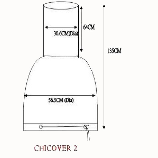 Gardeco Chimenea Cover - L and XL - Dimensions