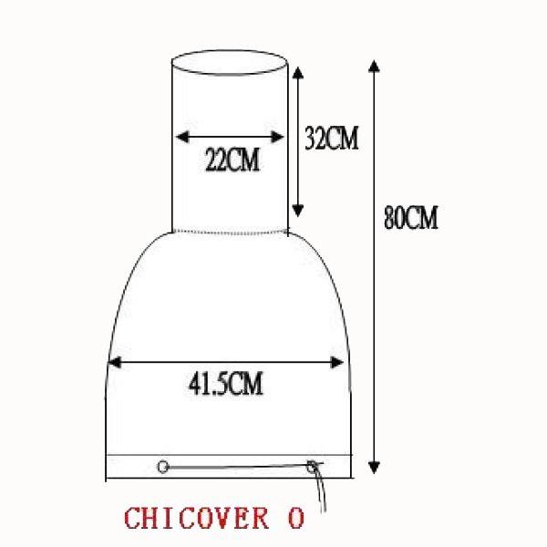 Gardeco Medium Chimenea Cover - Dimensions