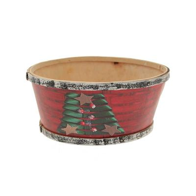 Round Wooden Christmas Bowl (20cm)