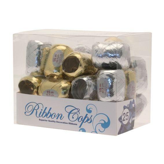 Metallic Gold / Silver Ribbon Cops