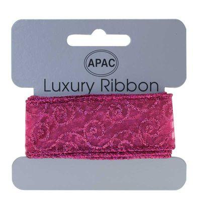 Hot Pink Glitter Ribbon