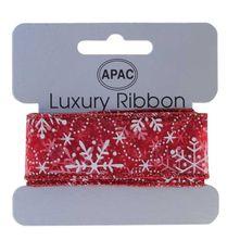 Red Snowflakes ribbon