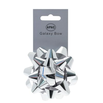 Metallic Silver Sticky Bow