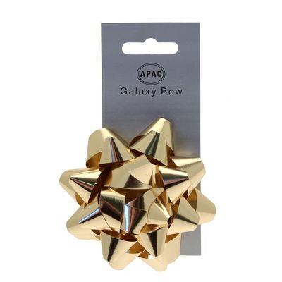 Metallic Gold Sticky Bow