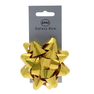 Holographic Gold Sticky Bow