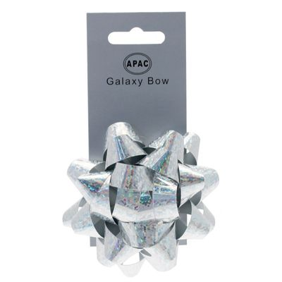 Holographic Silver Sticky Bow