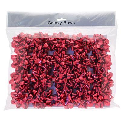 Metallic Red Sticky Bow