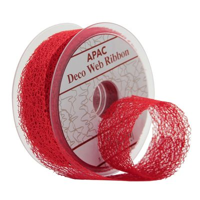 Red decomesh ribbon