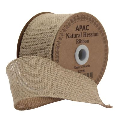 70mm hessian ribbon