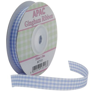 Light Blue Gingham Ribbon