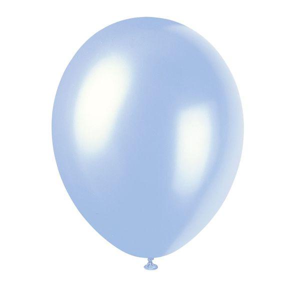 Light Blue Pearlised Balloons