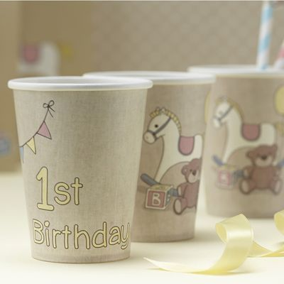 Rock A Bye Baby Birthday Cups