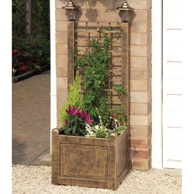 Gablemere Trellis Planter - Antique Bronze