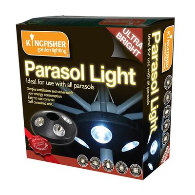 Kingfisher Parasol Lights - Packaged