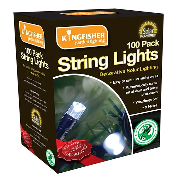 Kingfisher Solar Powered String Lights - Boxed