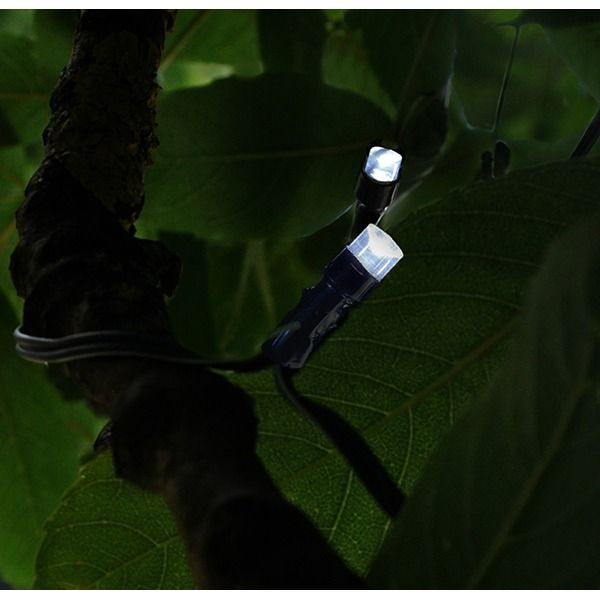 Kingfisher Solar Powered String Lights - Lit LED
