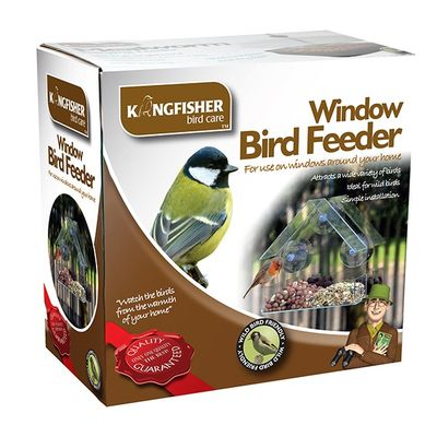 Kingfisher Window Bird Feeder