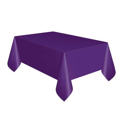 Purple Plastic Square Tablecover