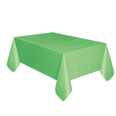 Lime Green Plastic Square Tablecover