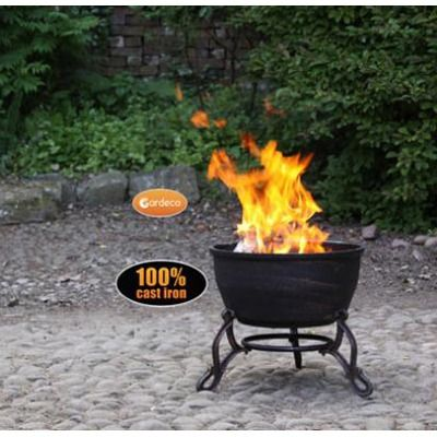 Gardeco Elidir Fire Bowl - In use - Close