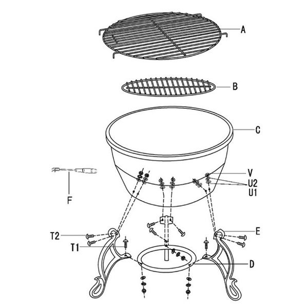 Gardeco Elidir Fire Bowl - Assembly