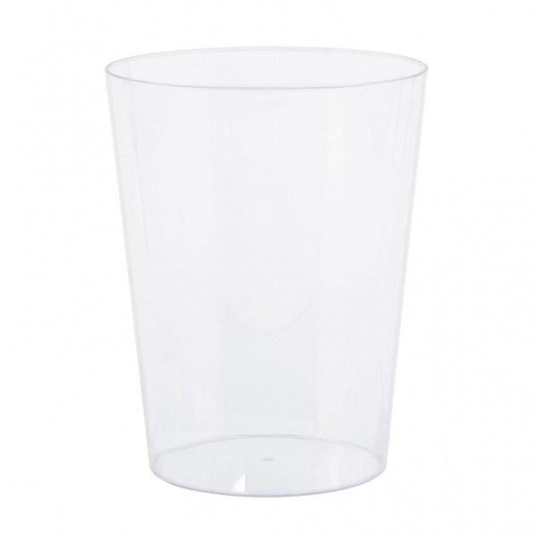 15cm Tapered Acrylic Cylinder Vase
