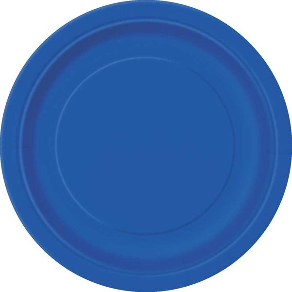 Royal Blue Round Paper Plate