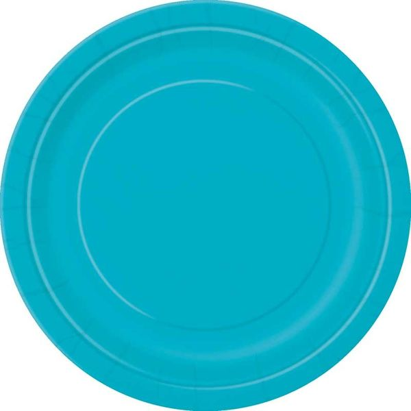 Teal Round Paper Plate