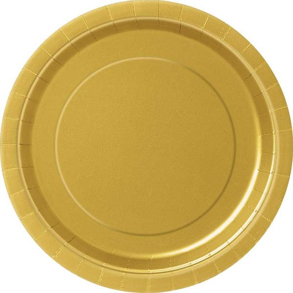 Gold Round Paper Plate