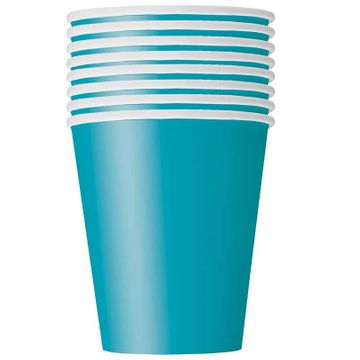 Teal Blue Paper Cup