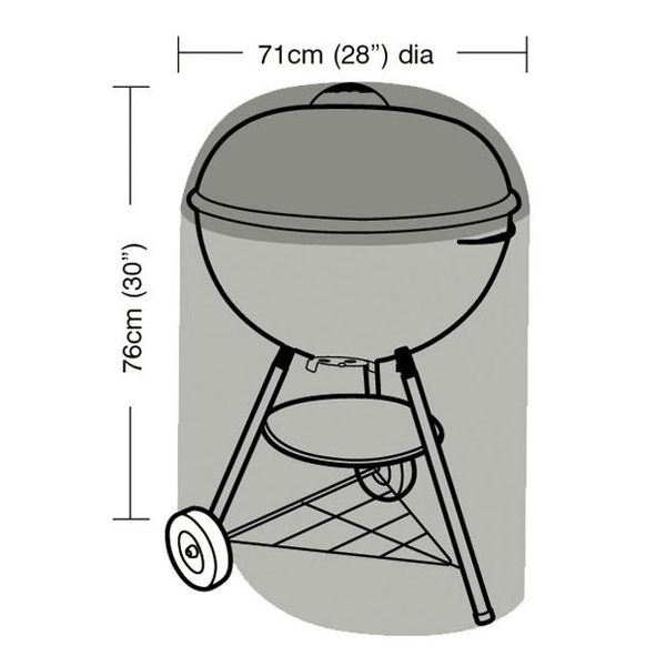 Garland Kettle Barbecue Cover - With dimensions