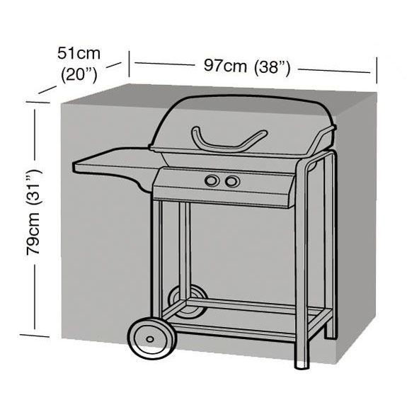 Garland Small Classic Barbecue Cover - Dimensions