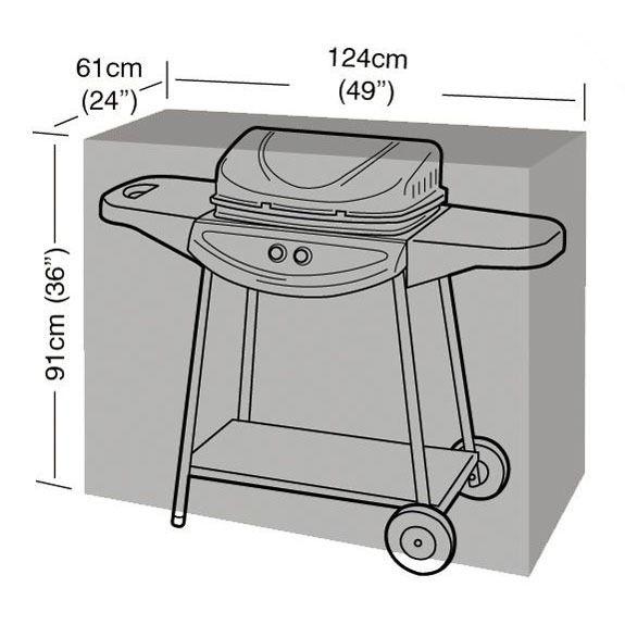 Garland Medium Barbecue Cover - Dimensions