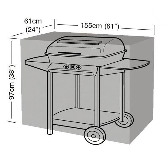 Garland Large Barbecue Cover - Dimensions
