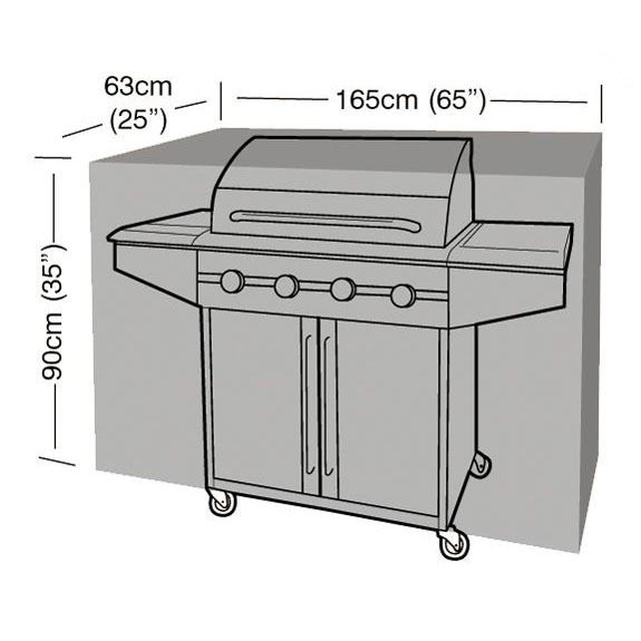 Garland Extra Large Barbecue Cover - Dimensions