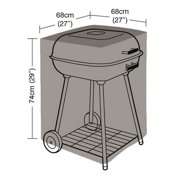 Garland Square Barbecue Cover - Dimensions