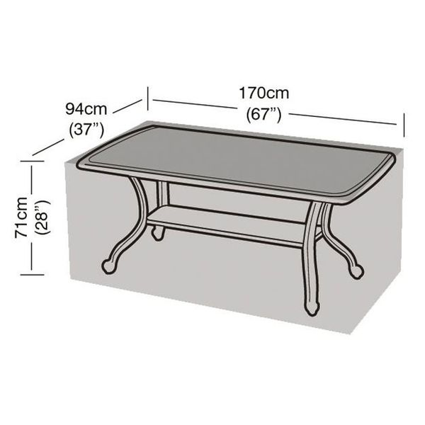 Garland 6 Seater Rectangular Table Cover - Dimensions